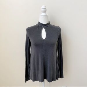 American Eagle Outfitters Soft & Sexy Gray Top